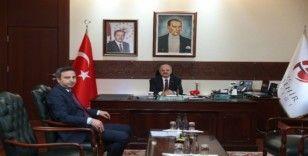 Vali Çakacak, göreve yeni atanan DSİ 3. Bölge Müdürü Şan'ı kabul etti