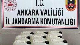 Ankara'da 395 litre kaçak antiseptik dezenfektan ele geçirildi