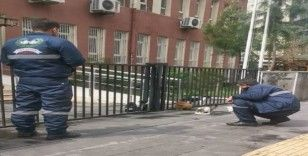Dükkanlar kapandı, sokak hayvanlarının imdadına temizlik ekipleri yetişti