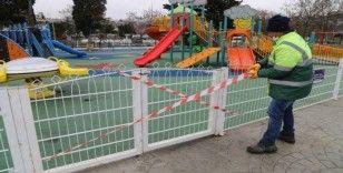 Büyükçekmece'de çocuk park ve oyun alanları kullanıma kapatıldı