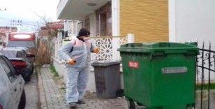 6 bin çöp konteynırı dezenfekte edildi
