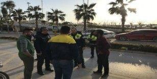 Ters yöne giren motosiklet kazaya neden oldu: 1 yaralı