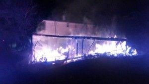 Kastamonu'da geceyi alevler aydınlattı