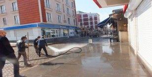 Malazgirt'te korona virüsüne karşı temizlik çalışması