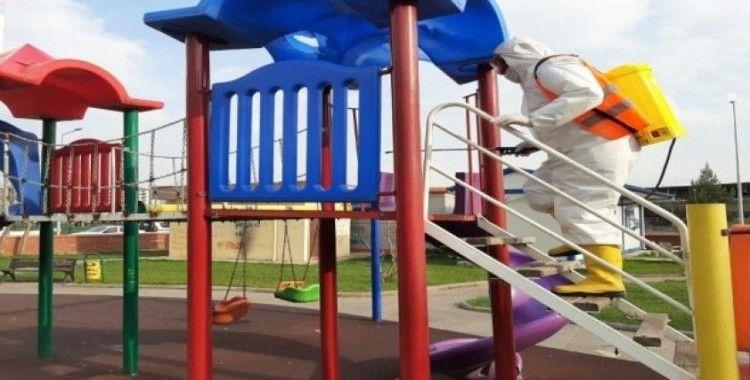 Çocuk oyun parklarına korona virüs önlemi