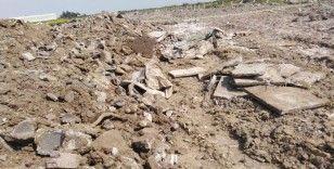 Hafriyat atıkları arasında bulunan insan kemikleri korkuttu