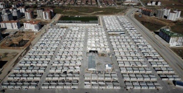 Elazığ'da konteyner kentlerde 4 bin 613 kişi yaşamaya başladı