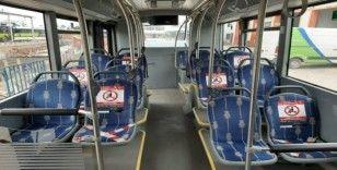 Kocaeli'deki belediye otobüslerinde iki kişi yan yana oturamayacak