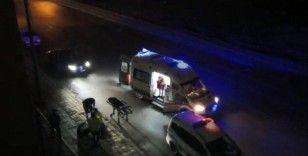 Alkollü arkadaşını kaza yerinde bırakıp kaçtı