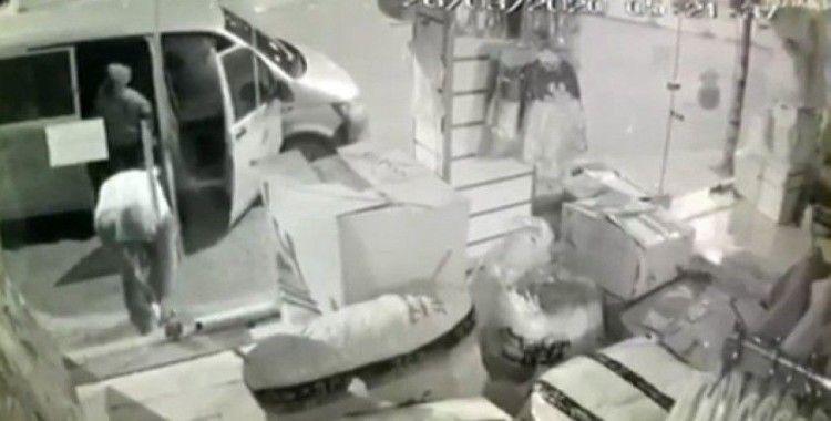 Hırsızlık teşebbüsü kamerada