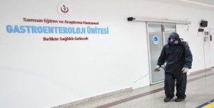 Samsun'da hastaneler her gün dezenfekte ediliyor
