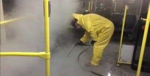 Düzce'de ulaşım araçlarına buharlı dezenfektasyon