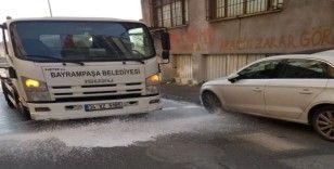Bayrampaşa'da korona virüs temizliği