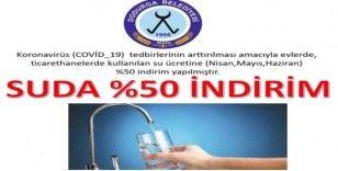 Dodurga Belediyesi içme suyuna yüzde 50 indirim yaptı