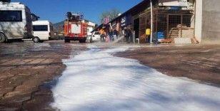 Bayırköy'de tüm sokaklar dezenfekte edildi