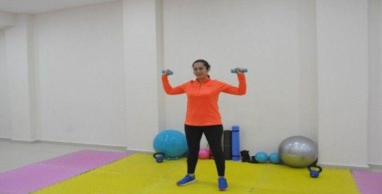Çan Belediyesi evde egzersiz programı yaptı