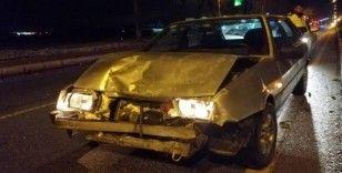 Kazaya neden olan sürücü kaçtı