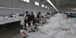 Amasya'da antibakteriyel tulum üretiliyor