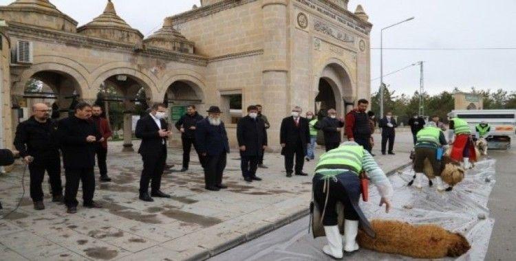 Erzincan'da Korona virüs salgınının bitmesi için kurbanlar kesildi, dualar edildi