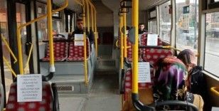"""Malatya'da otobüslerde """"sosyal mesafe"""" düzenlemesi"""