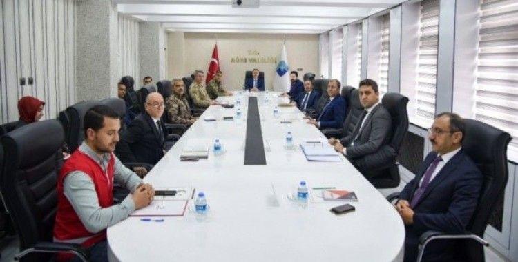 Ağrı'da İl Pandemi Koordinasyon Kurulu Toplantısı