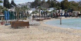 Bodrum sahilleri sessizliğe büründü
