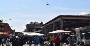 Karacasu'da drone destekli ateş ölçümü yapıldı