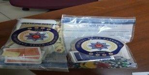 Akşehir'de kumar baskını: 5 gözaltı