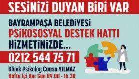 Bayrampaşa Belediyesi'nden salgına karşı psikolojik destek