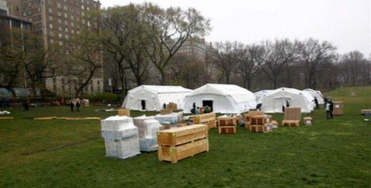 New York'ta Central Park'a sahra hastanesi kuruldu
