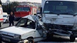 Bakırköy E-5'te feci kaza