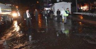 Başkan Beyoğlu dezenfekte çalışmalarını yerinde inceledi