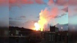Ağrı'da doğal gaz boru hattı patladı