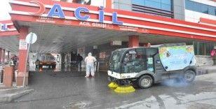 Eyüpsultan Devlet Hastanesi temizliği için özel ekip görevlendirildi