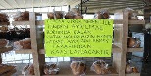 Konya'da fırıncıdan ihtiyaç sahiplerine askıda ekmek