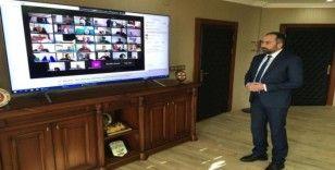Van YYÜ Senato Toplantısı video konferans yöntemiyle yapıldı