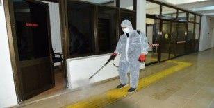 DÜ'de dezenfekte çalışmaları devam ediyor