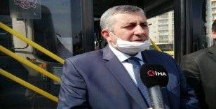 (Özel) İstanbul'da Özel Halk Otobüslerinde korona virüs önlemi