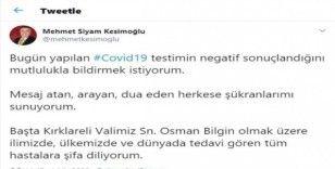 Kırklareli Valisi'nin ardından il sağlık müdüründe de korona virüs çıktı