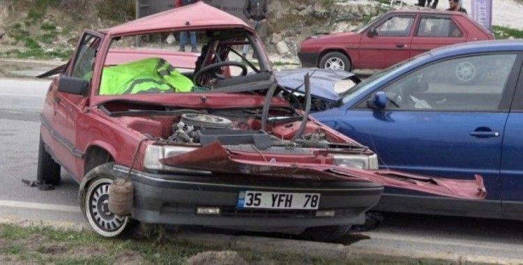 Denizli'de 1 kişinin öldüğü kaza güvenlik kamerasında
