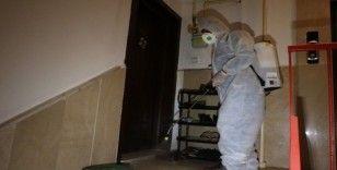 Yozgat Belediyesi apartmanları ücretsiz dezenfekte ediyor