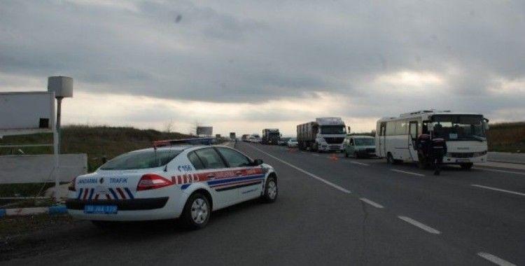İstanbul - Çanakkale yolunda ateş ölçerli sıkı tedbir