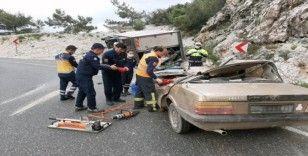 Sakar rampasında kaza: 4 yaralı