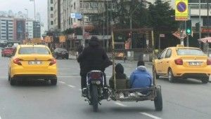 İstanbul'un göbeğinde tehlikeli yolculuk kamerada