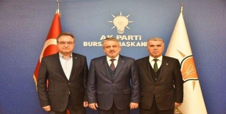 AK Parti Nilüfer, İnegöl ve Kestel ilçe başkanları görevlerini devretti