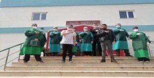 Bilecik'te hayıseverden sağlık çalışanlarına yemek ikramı