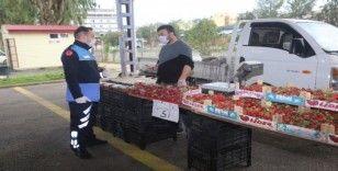 Erdemli'de pazar yerlerinde sıkı tedbir