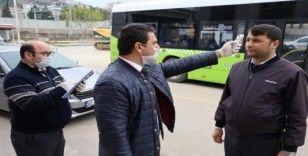 Kocaeli'de vatmanlar ve şoförler ateşlerini ölçtürmeden yola çıkamıyor