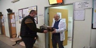 Başiskele Belediyesi'nden sağlık çalışanlarına destek