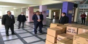 """Giresun'da eğitim camiası Kovid-19 ile mücadelede """"Biz de Varız"""" dedi"""